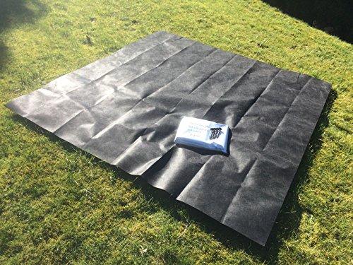 Doubleyou G&B® Sandkastenvlies 2×2 m schwarz inkl 4 Erdanker