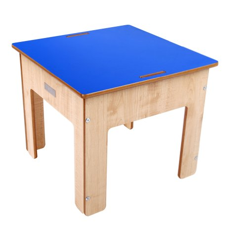 Little Helper Kinder Spiel und Sandtisch aus Holz mit umkehrbarer Kreidetafel, natur/blau