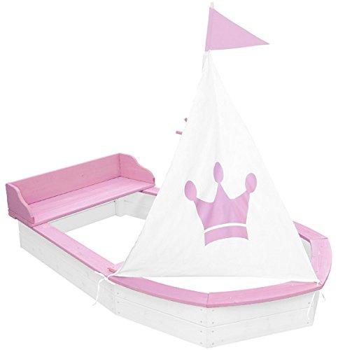 Sandkasten Boot Princess (Weiß-Rosa)