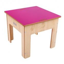 Little Helper Kinder Spiel und Sandtisch aus Holz mit umkehrbarer Kreidetafel, natur/rosa