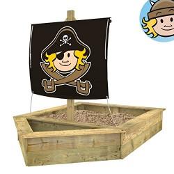 WICKEY Sandkasten Schiff mit Segel